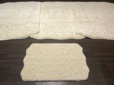 ROMANY WASHABLES NEW DESIGNS SETS OF 4 MATS XLARGE SIZE 100X140CM CREAMS/IVORY